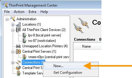 Management Center: neue Connection einrichten