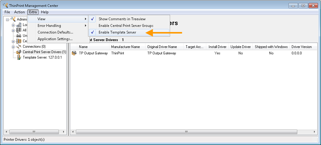 Printer drivers and Template Server - ThinPrint Support