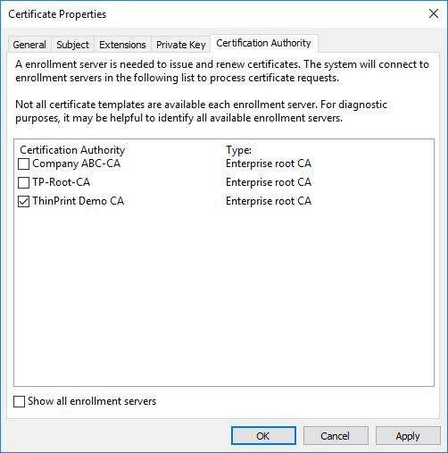 Member-Server: ggf. eine bestimmte Zertifizierungsstelle wählen
