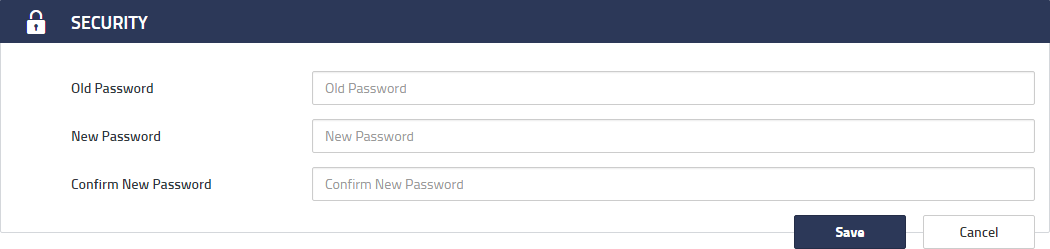 enter the old and the new passwords